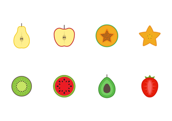 Free Fruit Vector Icons - vector gratuit #407555
