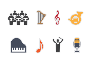 Free Choir Vector Icons - vector gratuit #407585