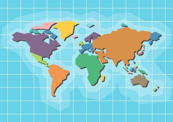 Free World Map Vector - vector gratuit #407645