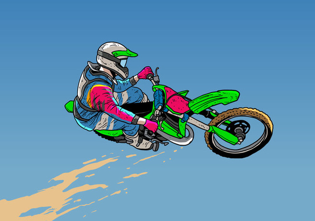Dirt Bikes Jumping Action - Kostenloses vector #407705