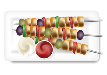 Brochette Vector Illustration - Free vector #407735