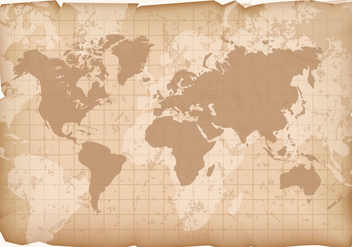 Vintage World Map Vector - Kostenloses vector #407745