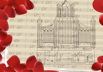 Pipe Organ Church Musical Background - vector gratuit #407755