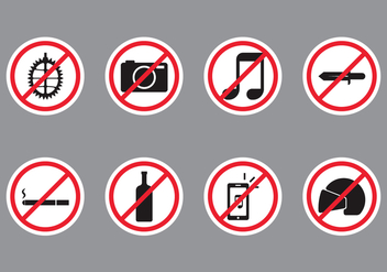 Forbidden Public Sign - vector gratuit #407815