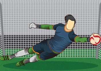Goal Keeper Action - vector gratuit #407835