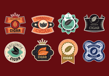 Cigar Label Vector Design - бесплатный vector #407875