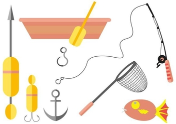 Free Fishing Icons Vector - vector gratuit #407895
