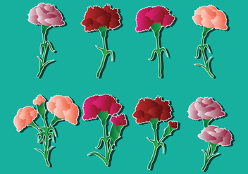 Carnation Vector Stems - Kostenloses vector #407915