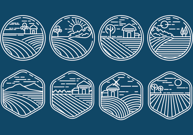 Rice Field Icons - Kostenloses vector #407925