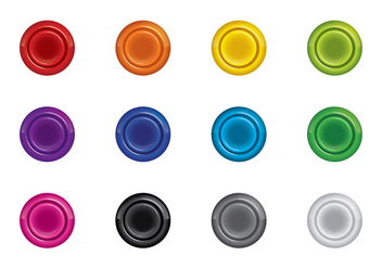 Arcade Button Vector - vector #408045 gratis