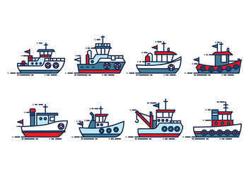 Tugboat Vector - Free vector #408055