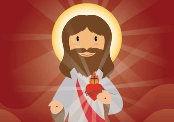 Free Sacred Heart Illustration - бесплатный vector #408075