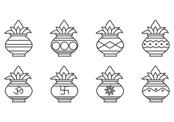 Free Kalash Icon Vector - Free vector #408095