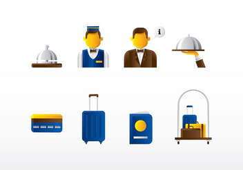 Concierge Icon Set Vector - vector #408145 gratis
