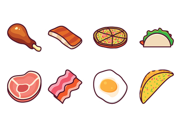 Free Food Vector Pack - vector gratuit #408195