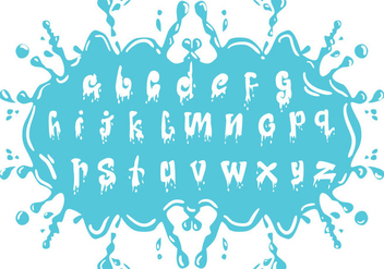 Set Of Water Alphabet Lowercase - vector #408215 gratis