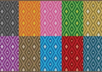 Huichol Small Patterns - vector gratuit #408295