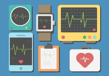 Free Heart Monitor Vector - бесплатный vector #408335