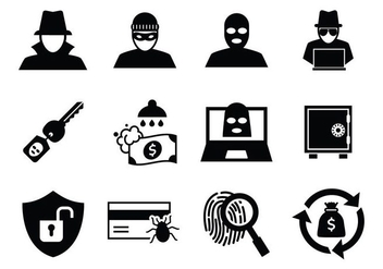 Free Theft and Thief Icons Vector - Free vector #408345
