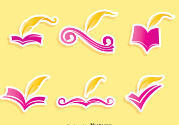 Writing Poem Vector Set - бесплатный vector #408375