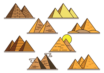 Piramide Vector Icons - бесплатный vector #408395