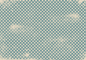 Grunge Polka Dot Background - vector #408405 gratis
