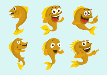Walleye cartoon vector illustration - Free vector #408465