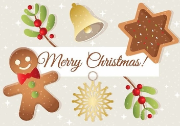 Free Christmas Vector Elements - Kostenloses vector #408485