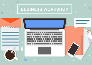 Free Business Workshop Vector Background - Free vector #408495