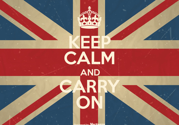 Free Vector Keep Calm And Carry On Poster - vector #408595 gratis