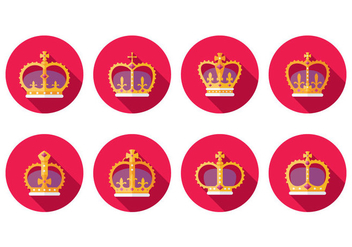 Free British Crown Icons - vector #408615 gratis