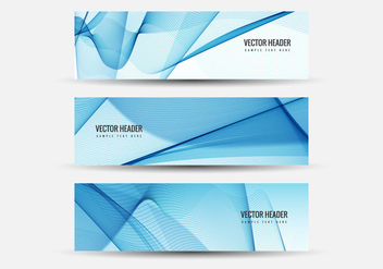 Free Vector Wavy Headers - бесплатный vector #408635