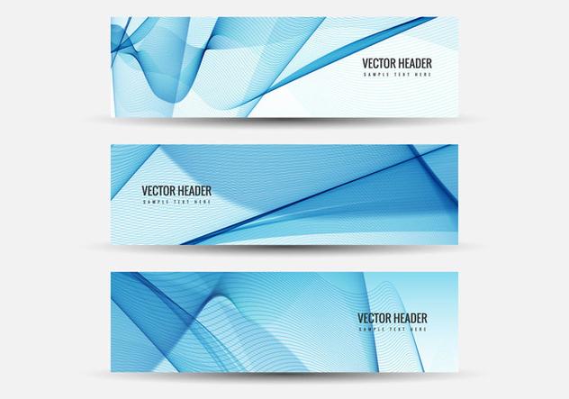 Free Vector Wavy Headers - Free vector #408635