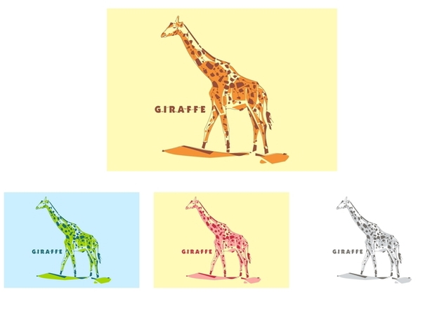 Giraffe in Popart Portrait - Free vector #408665