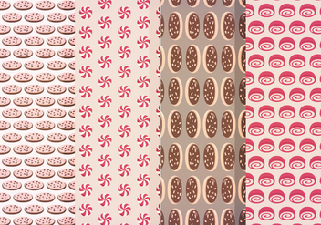 Vector Sweets Patterns - Free vector #408695
