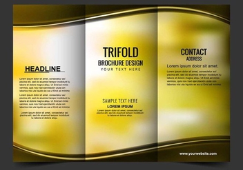 Free Vector Tri Fold Brochure - Free vector #408755