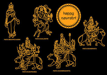 Navratri Vector Illustrations 1 - Kostenloses vector #408805