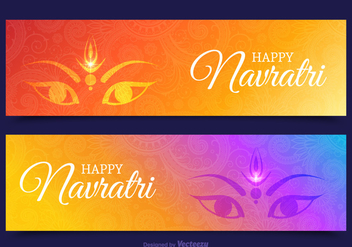 Free Happy Navratri Vector Banners - бесплатный vector #408815
