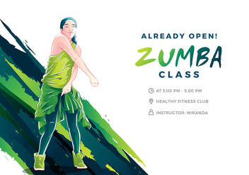 Zumba Illustration Cool Free Vector - vector gratuit #408875