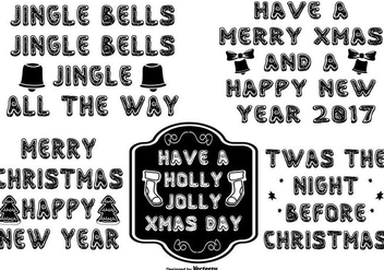 Cute Hand Drawn Style Christmas Lettering - vector #408935 gratis