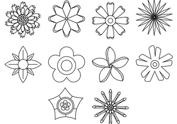 Free Flower Icon Vector - Free vector #408945