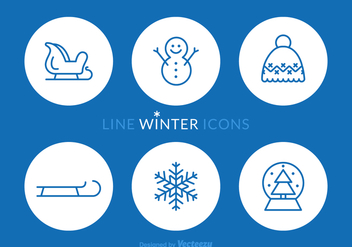 Free Winter Line Vector Icons - vector #408985 gratis
