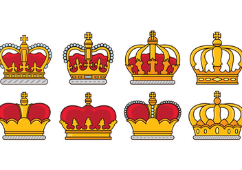 Set Of British Crown Icons - vector gratuit #409005