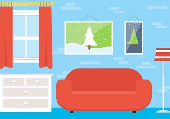 Free Christmas Vector Lounge - Free vector #409075
