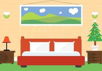 Free Christmas Vector Bedroom - Kostenloses vector #409085