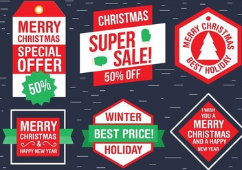 Free Christmas Vector Labels - vector #409125 gratis