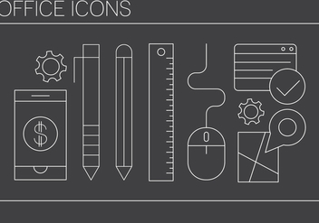 Free Office Icons - vector gratuit #409135