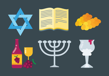 Free Shabbat Icons Vcetor - Free vector #409265