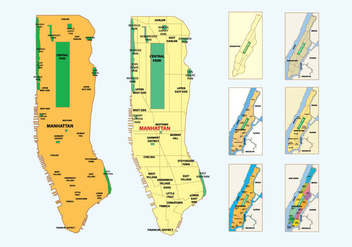 Free Manhattan Map - vector #409315 gratis