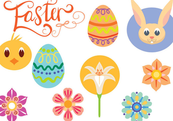 Free Cute Easter Vectors - бесплатный vector #409325